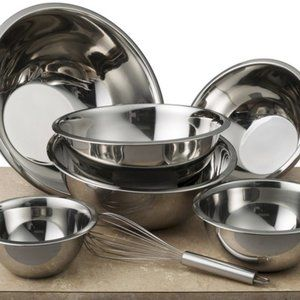 Fine Dine Stainless Steel Mixing Bowls (Set of 6)